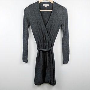 Banana Republic Knee-Length Wrap Sweater Dress